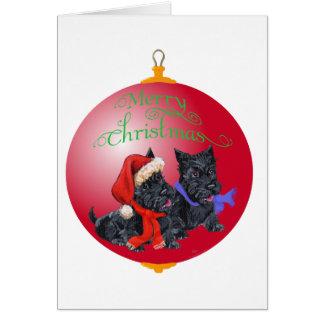 Scottish Terrier Christmas Ornament Card