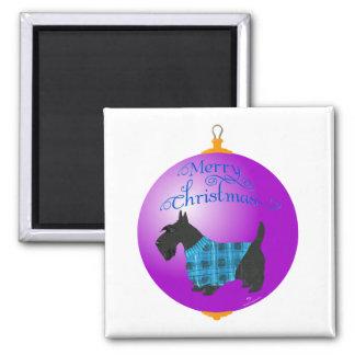 Scottish Terrier Christmas Ornament Fridge Magnet