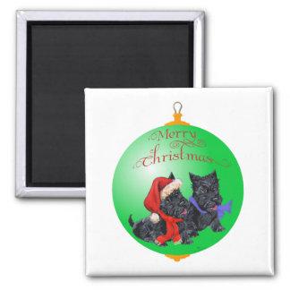 Scottish Terrier Christmas Ornament Fridge Magnets