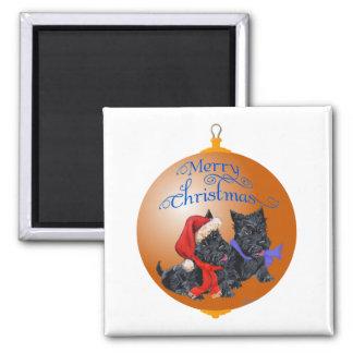 Scottish Terrier Christmas Ornament Magnets