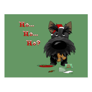 Scottish Terrier Christmas Post Cards