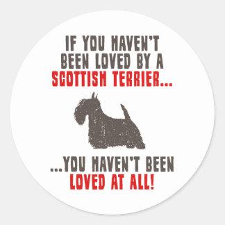 Scottish Terrier Classic Round Sticker