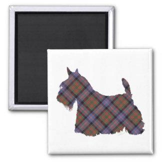 Scottish Terrier Cochran Tartan Square Magnet
