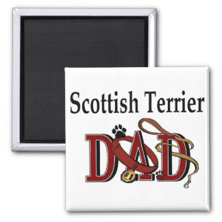 Scottish Terrier Dad Gifts Square Magnet