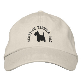 Scottish Terrier Dad Scottie Dog Baseball Cap