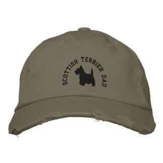 Scottish Terrier Dad Scottie Dog Embroidered Cap