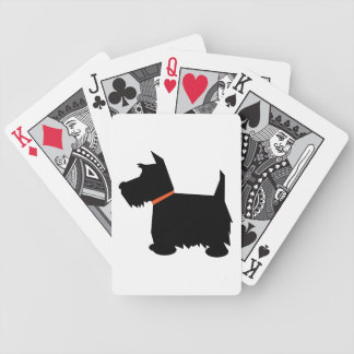 Scottish Terrier dog beautiful black silhouette Deck Of Cards