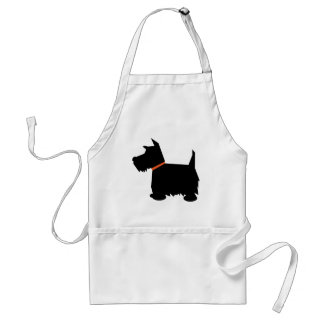 Scottish Terrier dog black silhouette apron