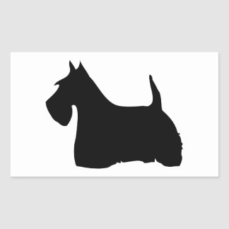 Scottish Terrier dog black silhouette dog stickers