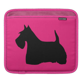 Scottish Terrier dog black silhouette ipad sleeve