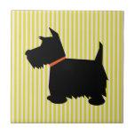Scottish Terrier dog black silhouette kitchen tile