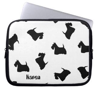 Scottish Terrier dog black silhouette laptop bag
