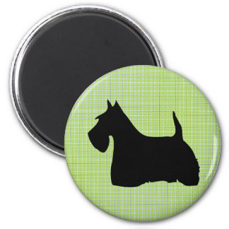 Scottish Terrier dog black silhouette magnet