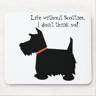 Scottish Terrier dog black silhouette mousepad