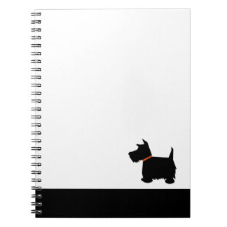 Scottish Terrier dog black silhouette notebook