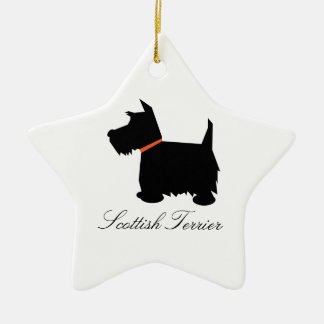 Scottish Terrier dog black silhouette ornament