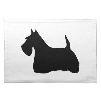 Scottish Terrier dog black silhouette placemat