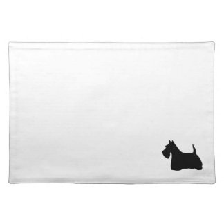 Scottish Terrier dog black silhouette placemat