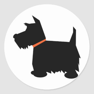 Scottish Terrier dog black silhouette sticker