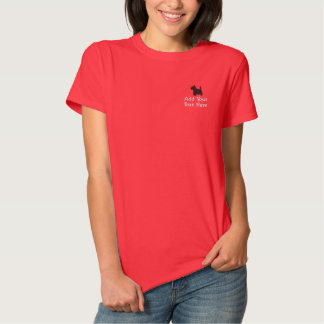 Scottish Terrier Dog Custom Personalized Embroidered Ladies Polo