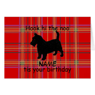 Scottish Terrier Dog Customize Card, Scots dialect Greeting Card