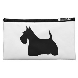 Scottish Terrier dog cute black silhouette, gift Makeup Bag