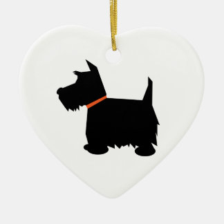 Scottish Terrier dog hanging heart ornament, Christmas Ornament