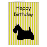 Scottish Terrier dog silhouette birthday card