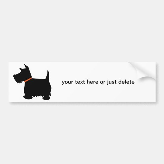 Scottish Terrier dog silhouette bumper sticker