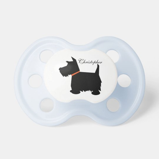 Scottish Terrier dog silhouette custom boys name Dummy