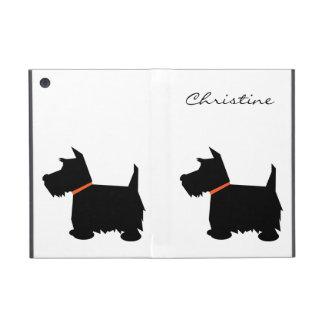 Scottish Terrier dog silhouette custom girls name Covers For iPad Mini