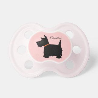 Scottish Terrier dog silhouette custom girls name Dummy