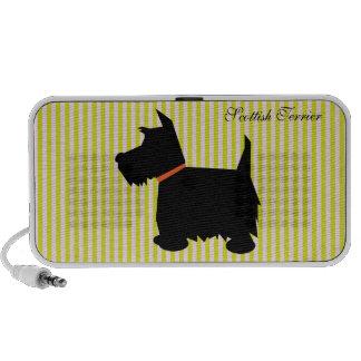 Scottish Terrier dog silhouette doodle speakers