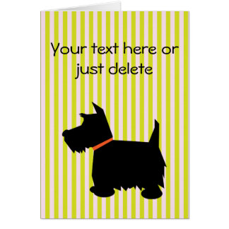 Scottish Terrier dog silhouette greetings card
