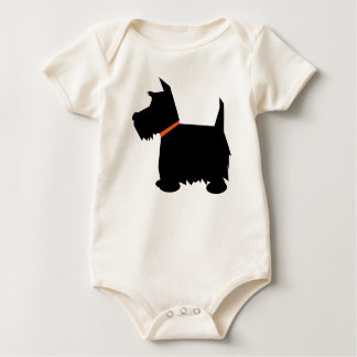 Scottish Terrier dog silhouette infant creeper