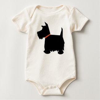 Scottish Terrier dog silhouette infant creeper