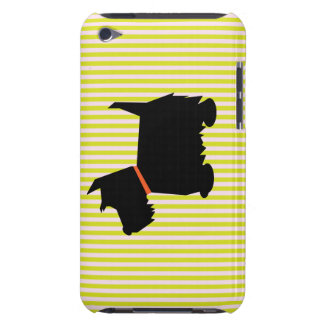 Scottish Terrier dog silhouette ipod touch 4G case Barely There iPod Case