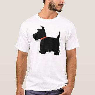 Scottish Terrier dog silhouette mens t-shirt