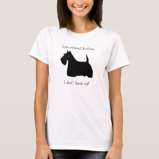 Scottish Terrier dog silhouette womens t-shirt
