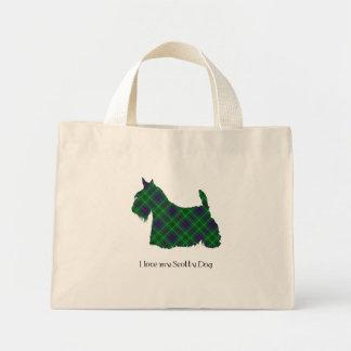 Scottish Terrier Duncan Tartan Canvas Bags