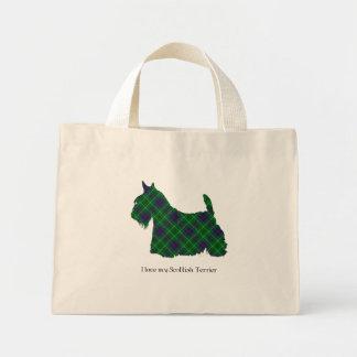 Scottish Terrier Duncan Tartan Mini Tote Bag