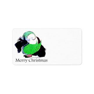 Scottish Terrier Elf Label