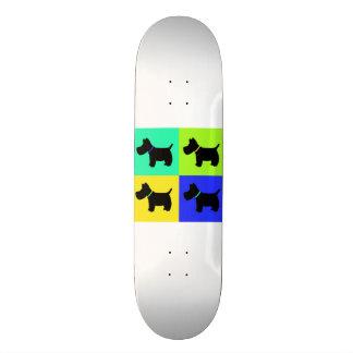 Scottish Terrier Fun Prints Skate Board