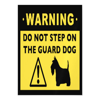 Scottish Terrier Funny Guard Dog Warning Magnetic Invitations
