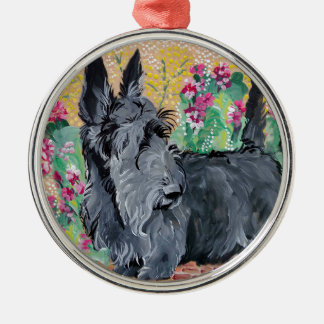Scottish Terrier Garden Christmas Ornament