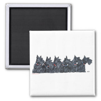 Scottish Terrier Gathering Refrigerator Magnets