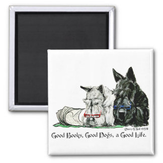 Scottish Terrier Good Life Square Magnet