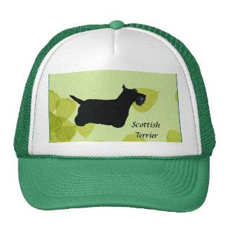 Scottish Terrier ~ Green Leaves Design Cap