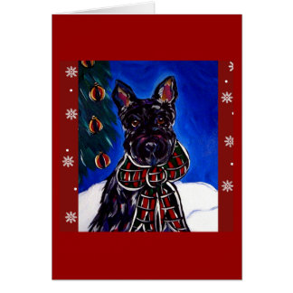 Scottish Terrier Holiday Card