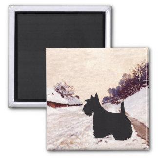 Scottish Terrier Homeward Bound Square Magnet